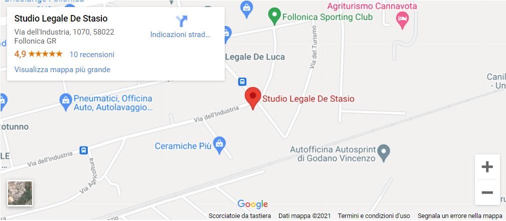 Mappa Studio Legale De Stasio, WQMR+VQ, Follonica, Grosseto